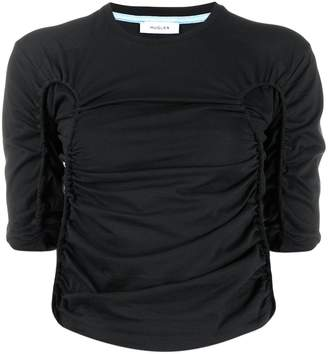 Thierry Mugler ruched crop top