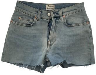 Acne Studios Blue Cotton Shorts