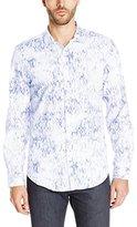Calvin Klein Men's Long-Sleeve Pixel Square Shirt