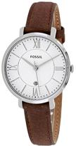 Fossil Jacqueline ES3708 Women's Round Brown Leather Watch