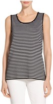 St. John Reversible Striped Knit Scoop Neck Shell