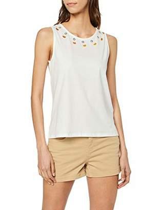 Off-White Yargıcı Womens 9YKTS9002X Round Collar Sleeveless T - Shirt X-Large