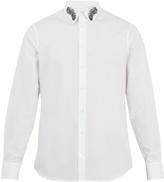 Alexander McQueen Peacock feather-embroidered cotton shirt