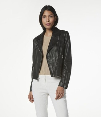 Andrew Marc Hastings Textured Leather Jacket