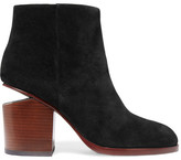Alexander Wang Gabi Cutout Suede Ankle Boots - Black