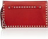 Valentino Women's Rockstud Flap Clutch-RED