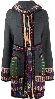 Etro Panelled Hooded Cardigan