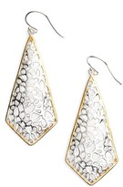 Argentovivo Women's Two Tone Lace Kite Earrings