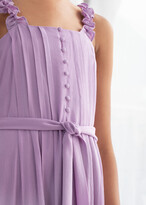 And other stories Ruffle Strap Midi Dress