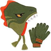 Asstd National Brand Dino Hat & Glove Set - Boys 8-20