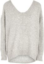 Topshop Super Soft Long Line V-Neck Jumper