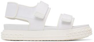 Giuseppe Zanotti White Carlito Flat Sandals