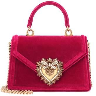 Dolce & Gabbana Devotion Small velvet shoulder bag