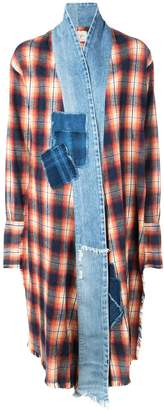 Greg Lauren tartan coat