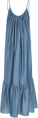 Missing You Already Plunged-Back Jersey Maxi Dress