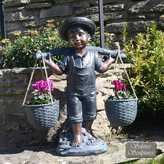 Kaleidoscope Boy With A Basket Statue