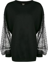 ADAM by Adam Lippes lace sleeves jumper