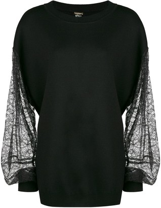 Adam Lippes Lace Sleeves Jumper