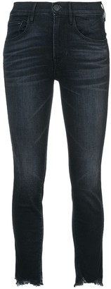 3x1 Raw Cuffs Cropped Jeans