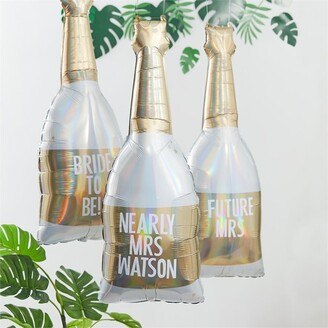 Ginger Ray Botanical Shower Customizable Champagne Balloon