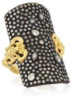 Armenta Old World Pavé Diamond Shield Ring, Size 7