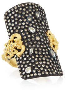 Armenta Old World Pave Diamond Shield Ring, Size 7