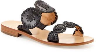 Jack Rogers Lauren Double-Strap Sandals, Black