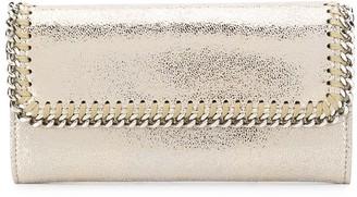 Stella McCartney Falabella metallic sheen continental wallet