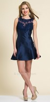 Dave and Johnny Sparkling Lace Open Back Homecoming Dress