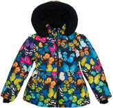 Big Chill Navy Butterfly Bubble Jacket - Toddler & Girls