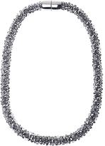 Adele Marie Faceted Glass Beads Rope Necklace, Silver
