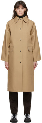 Kassl Editions Beige Wool Original Below Trench Coat