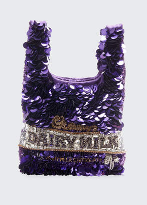 Anya Hindmarch Mini Dairy Milk Sequins Tote Bag