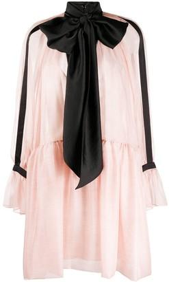 Philosophy di Lorenzo Serafini Contrasting Bow Tie Dress