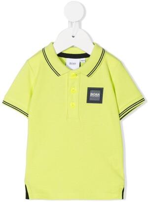 Boss Kidswear Logo Patch Cotton Polo Shirt