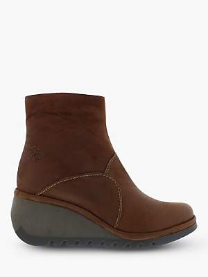 Fly London Nest056Fly Leather Ankle Boots, Cognac