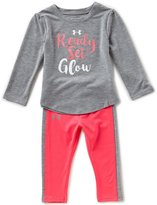 Under Armour Baby Girls 12-24 Months Ready Set Glow Long-Sleeve Tee & Pant Set