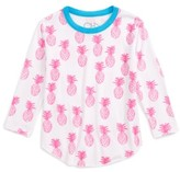 Chaser Toddler Girl's Pineapple Print Tee