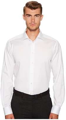 Eton Contemporary Fit Signature Twill Shirt (White) Men's Clothing
