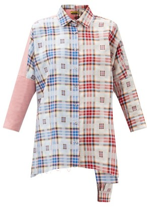 Marques Almeida Upcycled Checked Cotton Shirt - Multi