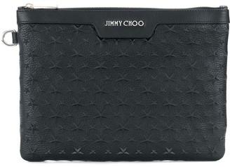 Jimmy Choo Derek star embellished pouch