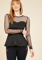ModCloth Lost in a Melody Long Sleeve Top in XS