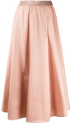Altea Lurex Waistband Maxi Skirt