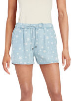 Splendid Drawstring Star-Print Shorts