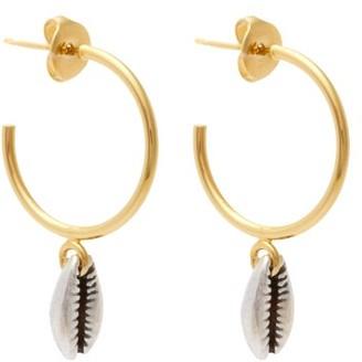 Isabel Marant Shell-drop Hoop Earrings - Womens - Silver