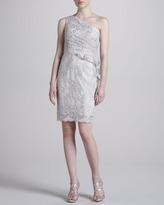 Notte by Marchesa One-Shoulder Lace Cocktail Dress