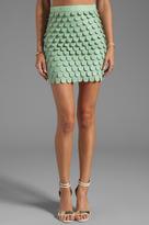 Blaque Label Faux Leather Skirt