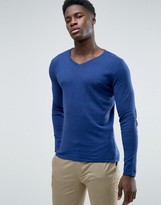 Selected Fitted V Neck Soft Feel Knitwear