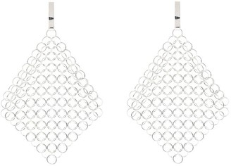 Saskia Diez Mesh Chain Drop Earrings