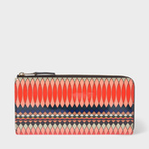 Paul Smith No.9 - Women's Large Multi-Coloured Patent Leather Zip-Around Purse